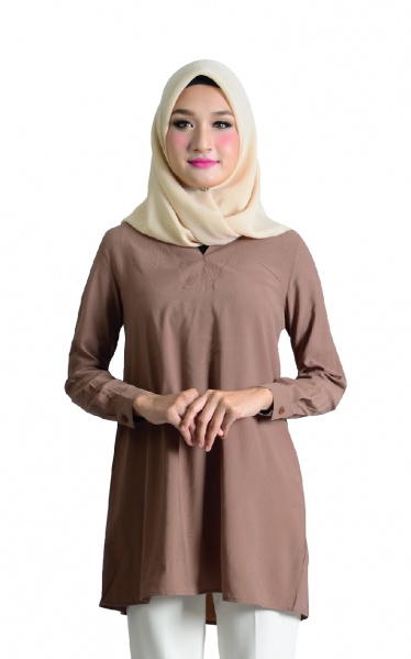 OVRA TUNIC BLOUSE - BROWN