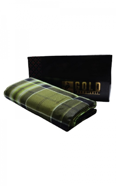 KAIN PELIKAT GOLD - DARK GREEN