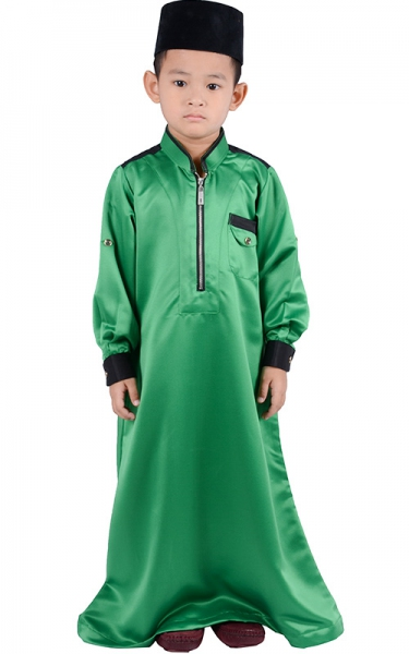 (FATHER & SON COLLECTION) KIDS JUBAHHESYAM - FOREST GREEN