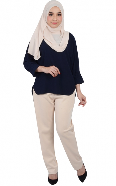 HAYDER FLOWING BLOUSE - NAVY