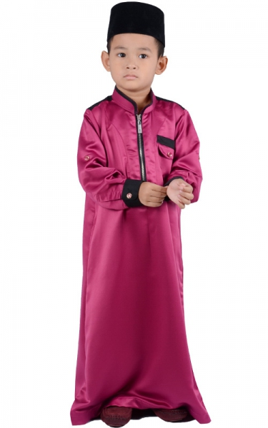 (FATHER & SON COLLECTION) KIDS JUBAH HESYAM - PURPLE