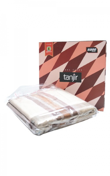 KAIN PELIKAT TANJIR - DARK BROWN