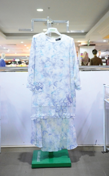 FEMINA BAJU KURUNG MODEN LACE - LIGHT BLUE