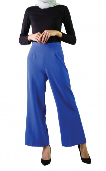 QISTY PALAZO PANTS - ROYAL BLUE