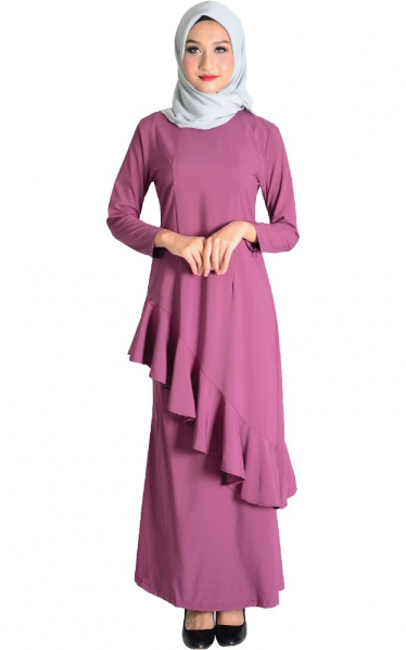 (FAMILY SET) BAJU KURUNG FAREESH - MAGENTA