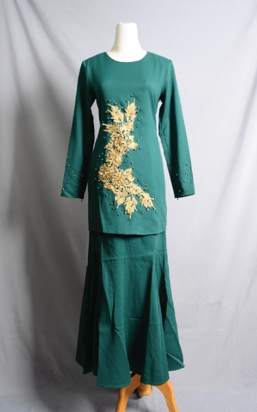 D'JUNE BAJU KURUNG MANIK - DARK GREEN