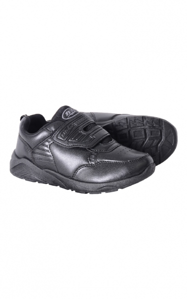 489-6370BK (SECONDARY SCHOOL)  B-FIRST BLACK SCHOOL SHOES