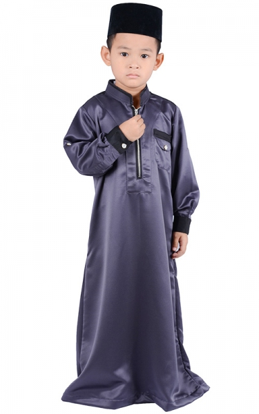 (FATHER & SON COLLECTION) KIDS JUBAH HESYAM - DARK GREY