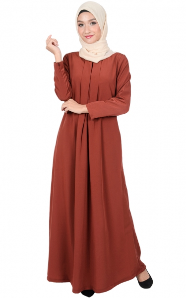 VIVY JUBAH DRESS - FIREBRICK
