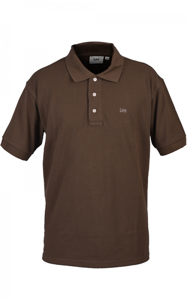 LEE POLO PIQUE SLIM - SADDLE BROWN