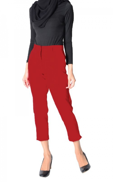ODELIA CIGARETTE PANTS - RED