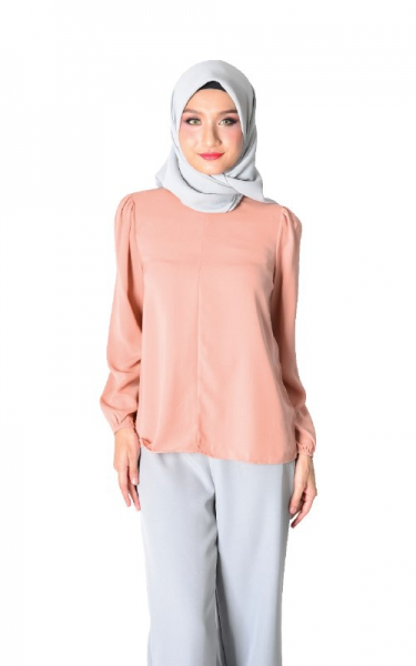 DAISY FLARED BLOUSE - SALMON