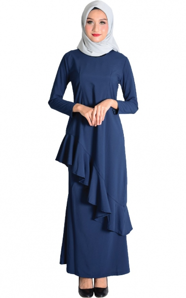 (FAMILY SET) BAJU KURUNG FAREESH - NAVY BLUE