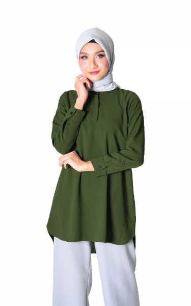 DIEDRA TUNIC BLOUSE - OLIVE