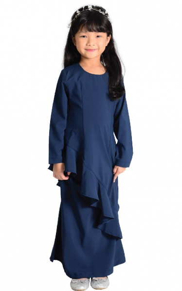(FAMILY SET) KIDS BAJU KURUNG FAREESH - NAVY BLUE