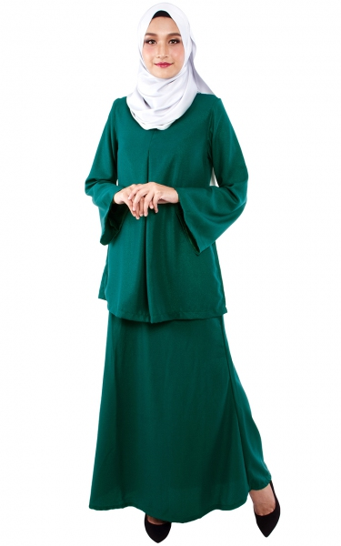 (FAMILY SET) BAJU KURUNG CATALINA - EMERALD