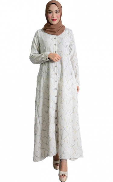 IRINA JUBAH DRESS - WHITE