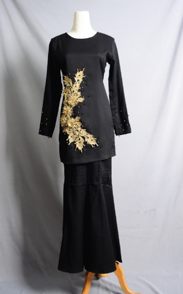 D'JUNE BAJU KURUNG MANIK - BLACK
