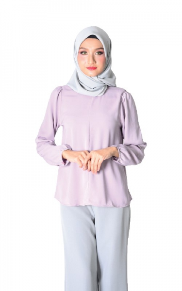 DAISY FLARED BLOUSE - LAVENDER
