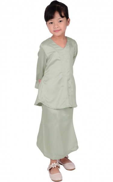 (FAMILY SET) KIDS BAJU KURUNG VERA - GREY