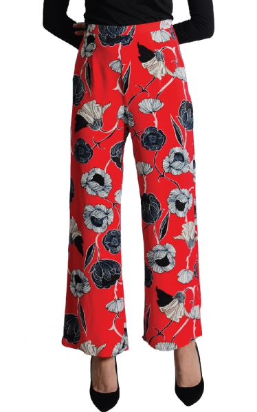 LEYNA PALAZO PANTS - RED
