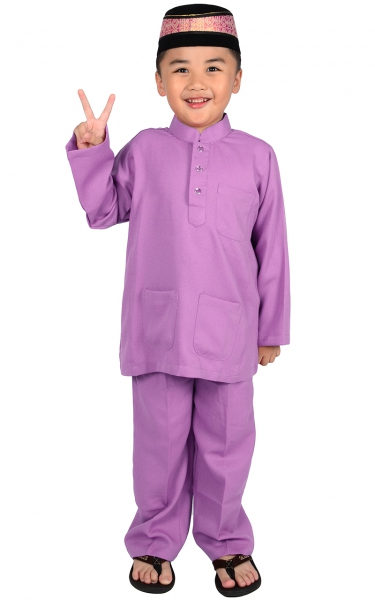 (FAMILY SET) KIDS BAJU MELAYU JADEN - LIGHT PURPLE