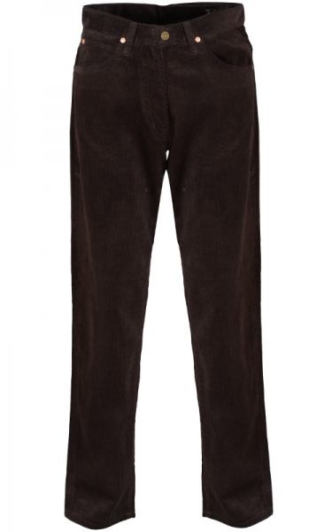 LEE CORDUROY DARK BROWN  DENIM LONG JEAN - DARK BROWN