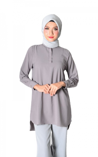 DIEDRA TUNIC BLOUSE - GREY