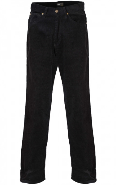 LEE CORDUROY BLACK DENIM LONG JEAN - BLACK
