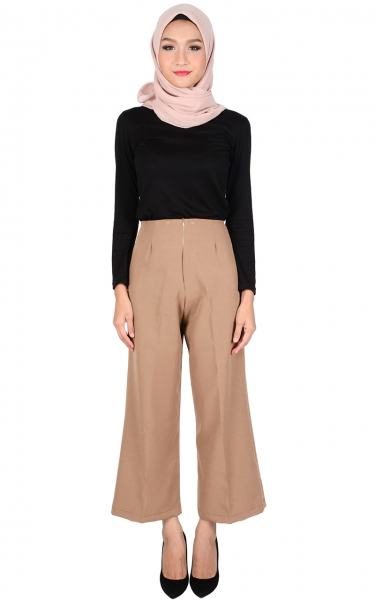 STELLA WIDE LEGGED PANTS - MOCHA