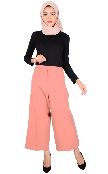ADELYN WIDE LEGGED PANTS - DUSTY PINK