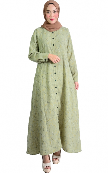 IRINA JUBAH DRESS - OLIVE