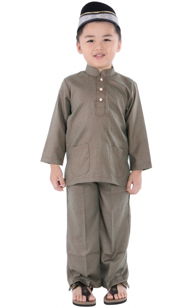 (FAMILY SET) KIDS BAJU MELAYU BREEDA - GREEN RED