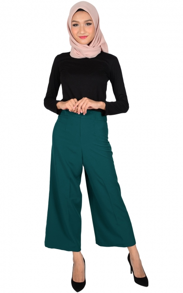 ADELYN WIDE LEGGED PANTS - TEAL