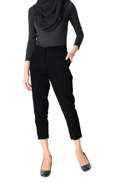 ODELIA CIGARETTE PANTS - BLACK