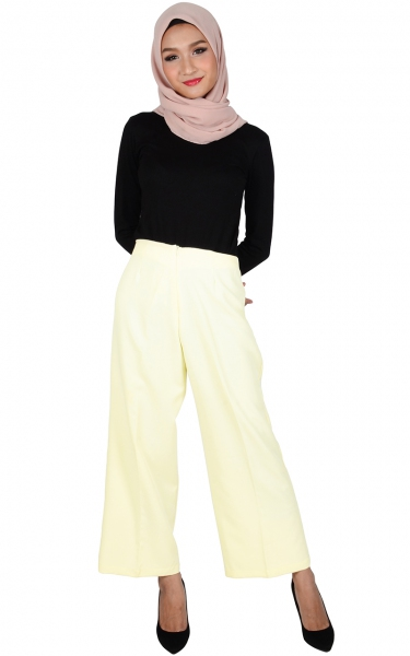 ALICE WIDE LEGGED PANTS - OFF WHITE