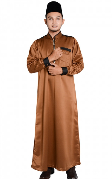 (FATHER & SON COLLECTION) JUBAH LELAKI HESYAM - BROWN