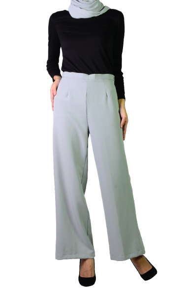 QISTY PALAZO PANTS - GREY