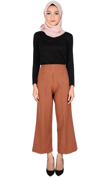 STELLA WIDE LEGGED PANTS - FIREBRICK