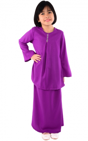 (FAMILY SET) KIDS BAJU KURUNG CATALINA - PURPLE