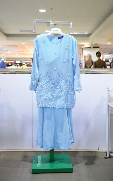 MANIS BAJU KURUNG MANIK - LIGHT BLUE