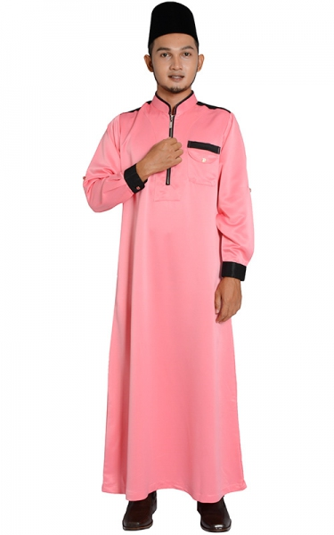 (FATHER & SON COLLECTION) JUBAH LELAKI HESYAM - DEEP PINK