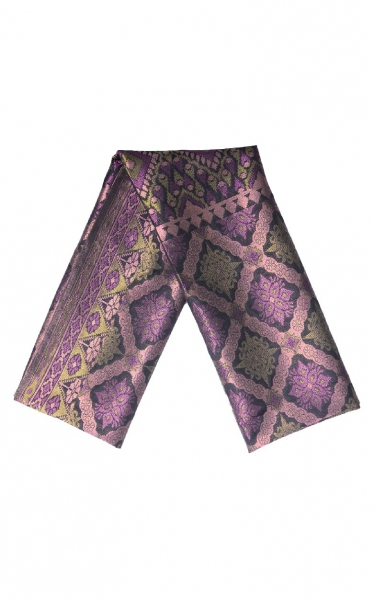 SAMPIN SONGKET DAMIEN - BLACK PURPLE