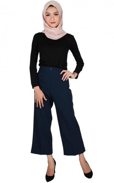 ALICE WIDE LEGGED PANTS - NAVY BLUE
