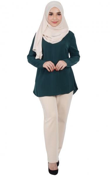 CALLA FLARED BLOUSE - EMERALD