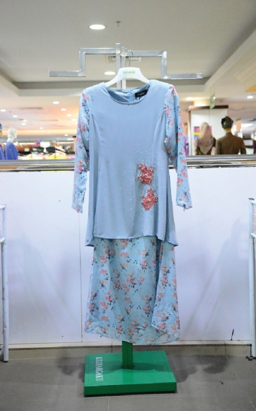 FEMINA BAJU MODEN LACE - DUSTY BLUE
