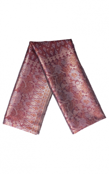 SAMPIN SONGKET CARL - NAVY BROWN