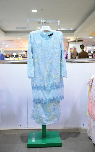 FEMINA BAJU KURUNG LACE - LIGHT BLUE