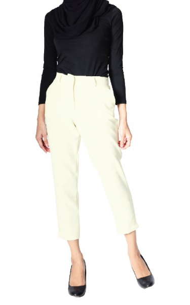 ODELIA CIGARETTE PANTS - OFF WHITE