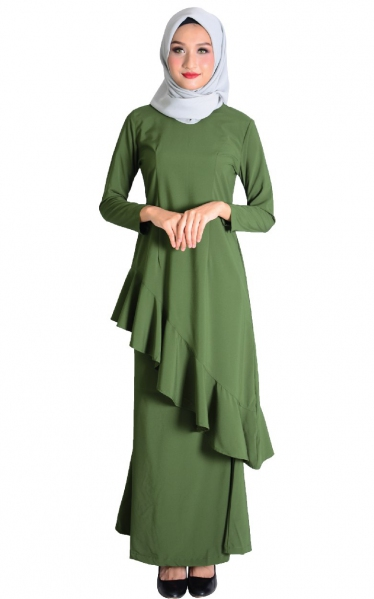 (FAMILY SET) BAJU KURUNG FAREESH - OLIVE